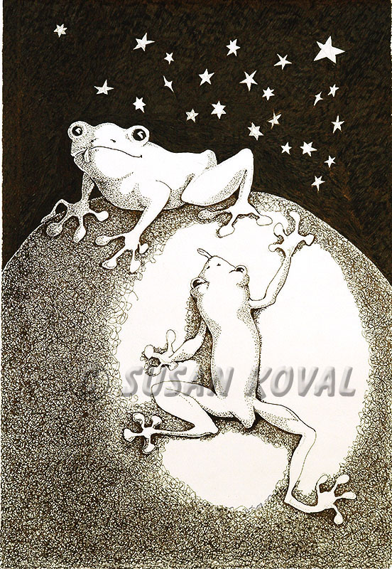 Frogs on the Moon
