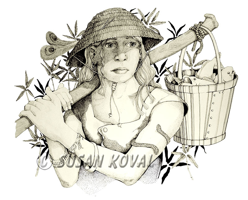 Woman w/Fish Basket