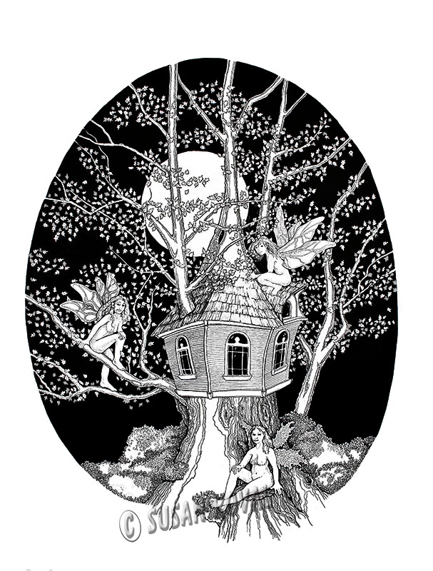Fairies in a Tree House