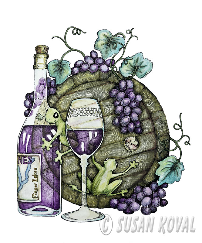 Frogs and Wine Barrel