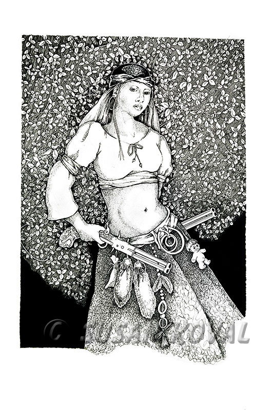 Woman w/Pistols